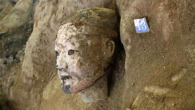 New terracotta warriors uncovered at emperor's mausoleum
