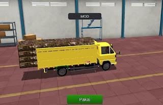 bussid mod Truck Kayu