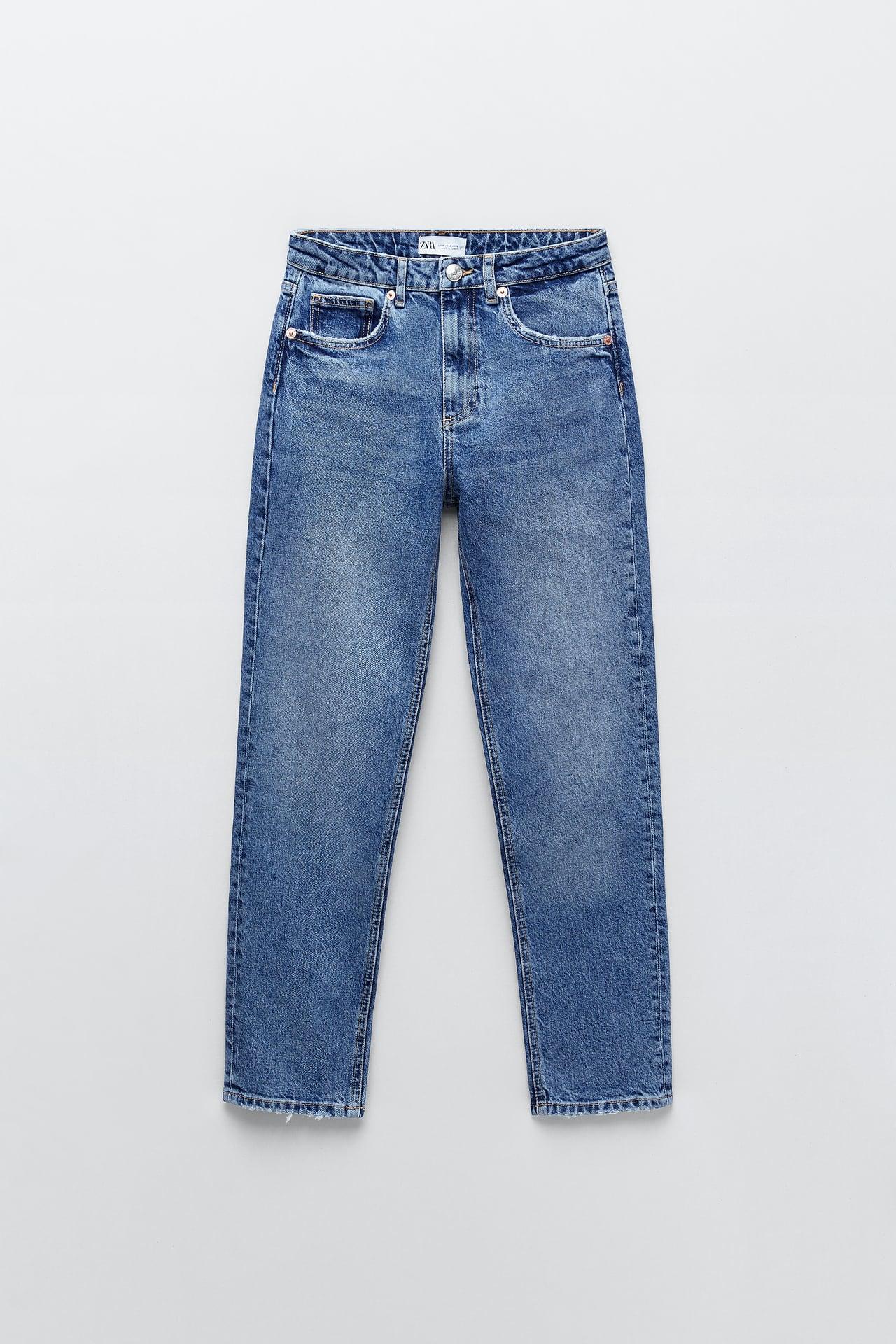 zara slim fit hi rise jeans