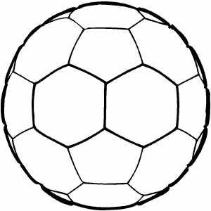 Desenhos de Bolas de Futebol para Colorir