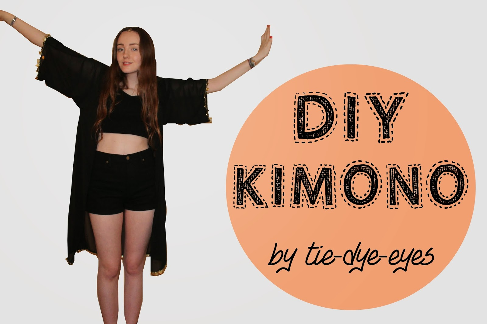 DIY kimono, kimono tutorial, how to make your own kimono, step by step guide
