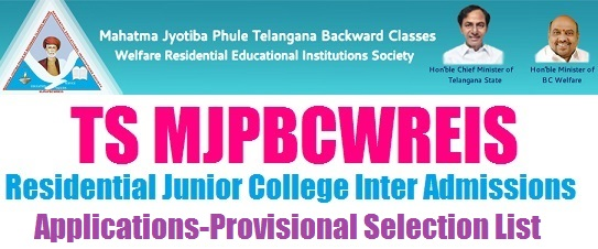 TS MJP BC welfare RJC 2018 Inter Admissions Apply Online at mjpabcwreis.cgg.gov.in