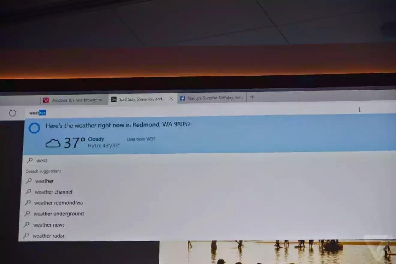 Dự báo thời tiết bằng Cortana