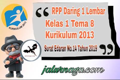 RPP Daring Kelas 1 Tema 8