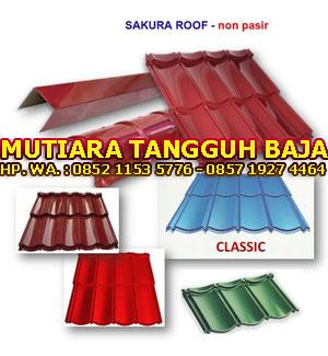 Jual Genteng Metal Berpasir Sakura Roof 2x4 Murah Perlembar 2018-2019 Jakarta Timur