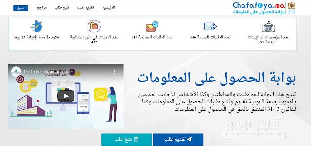 www.chafafiya.ma بوابة الحصول على المعلومات