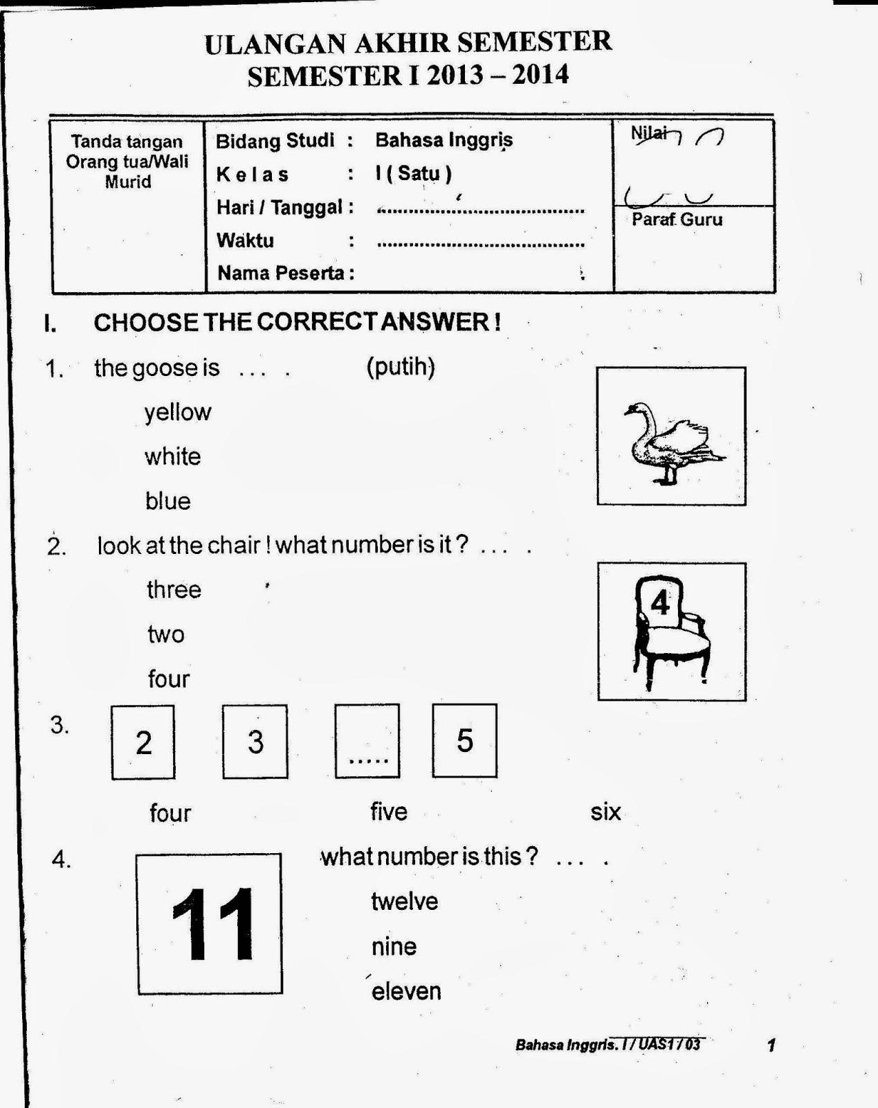 Soal Bahasa Inggris Kls 3 Sd Semester 2 Soal Bahasa Inggris Sd Kelas 1 Soalujiannet Know B How Do You Soal Uts Ipa Sd Kelas 6 Semester 2 Jawaban Contoh