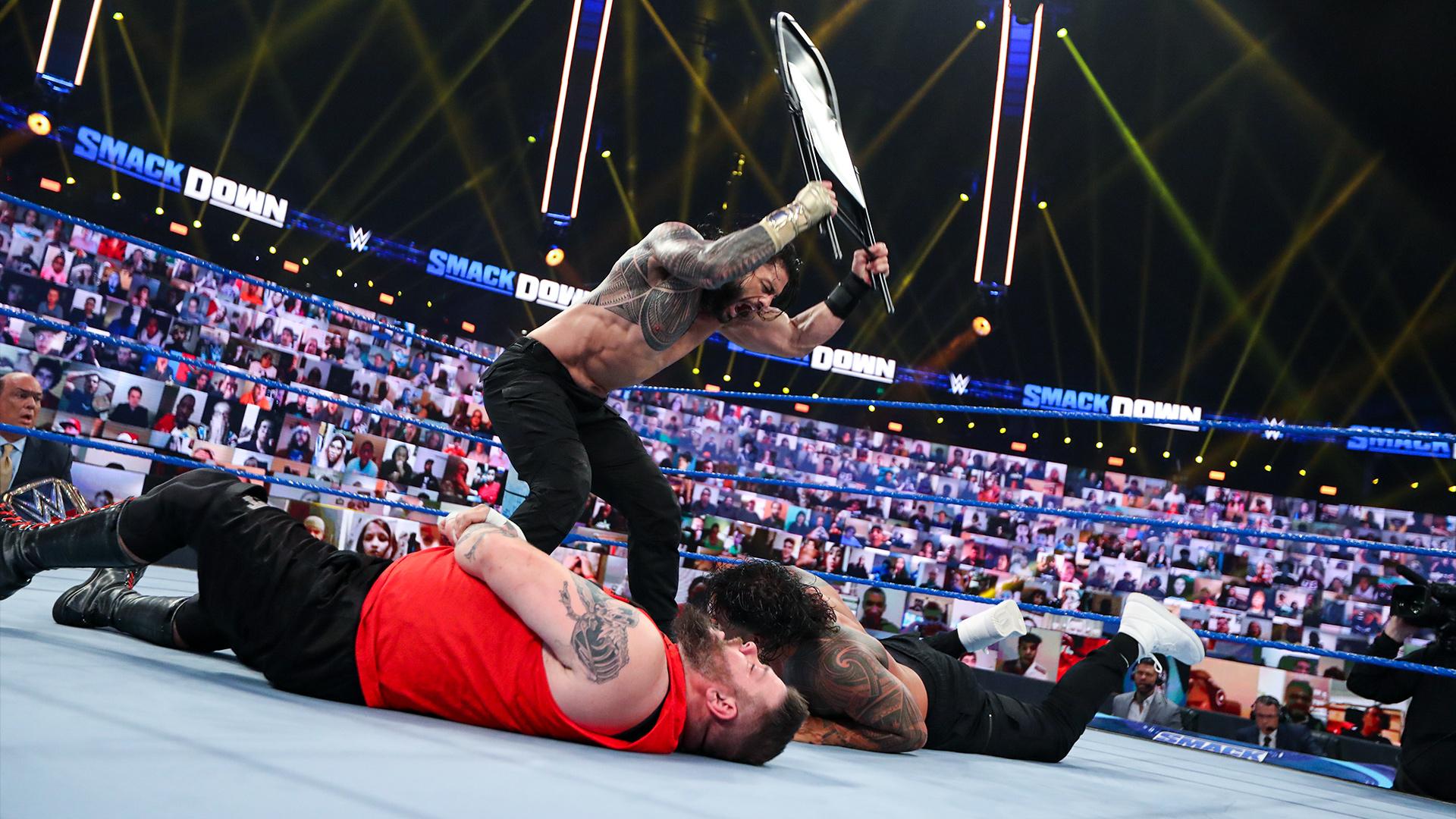Roman Reigns destrói Otis, Kevin Owens e Jey Uso no Friday Night SmackDown