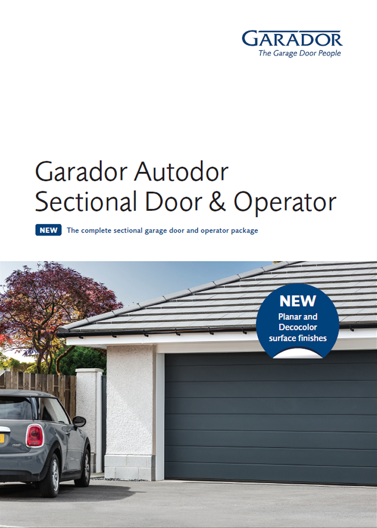 Garador Autodor sectional door and operator