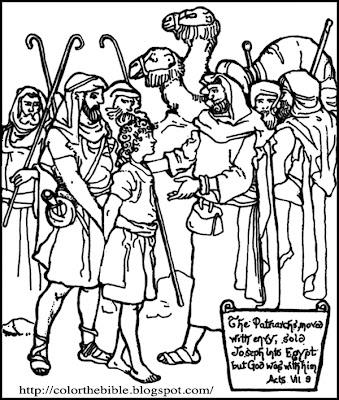 Color the bible sold because of envy for David and his brothers coloring page
