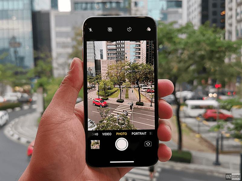 iPhone XS camera UI