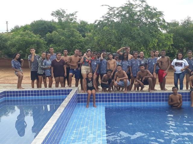 Francinópolis : Garotos do Pelotão Mirim participam de manhã e tarde de lazer na localidade Jenipapo.