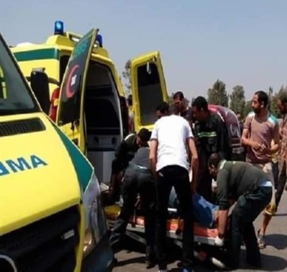 إصابة 6 في حادث على الصحراوي الغربي بنجع حمادي شمالي قنا