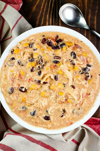 EASY CROCK POT CREAM CHEESE CHICKEN CHILI #dinner #chili #healthyrecipes #breakfast #noodle