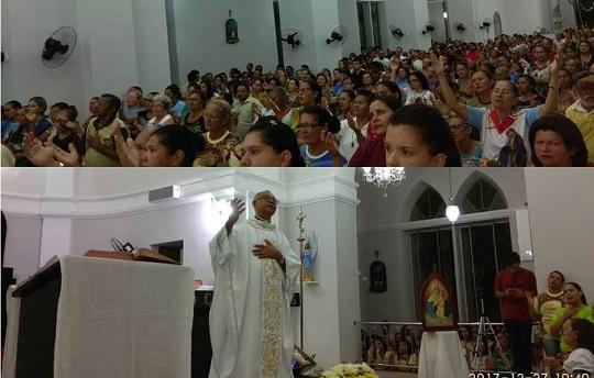 Fiéis celebram na Matriz de Nossa Senhora da Apresentação última Missa da Graça de 2017