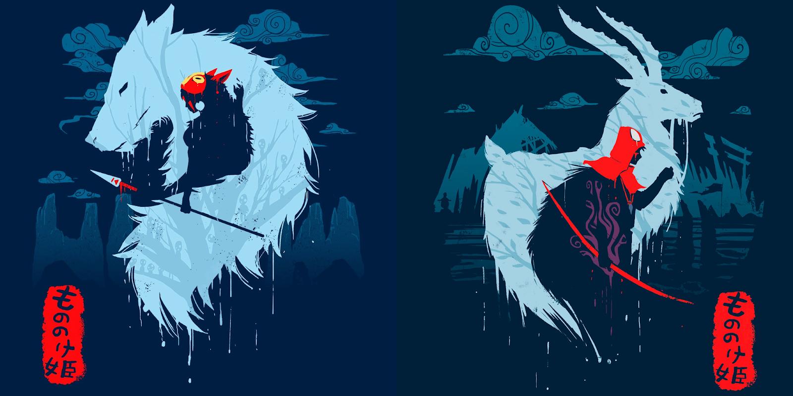 Mononoke Hime and Ashitaka Wallpapers and Backgrounds Image