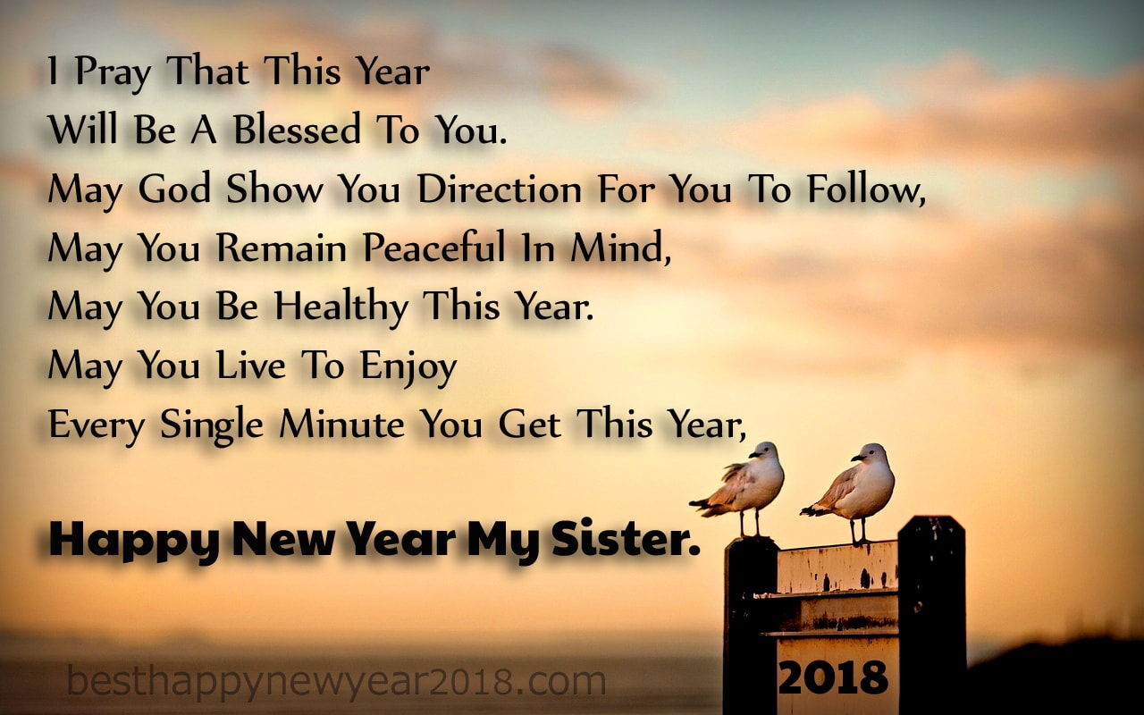 I Love My Sister Quotes New Year 2018 Quotes For Sister  Latest Happy New Year Wishes & Sms