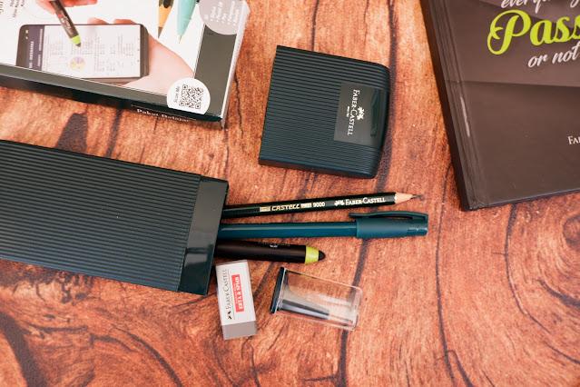 pensil pena penghapus dan stylus faber castell