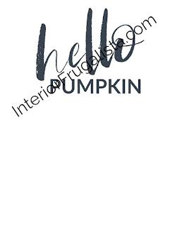 Free Hello Pumpkin Wall Art Printable