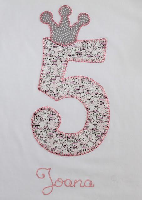 camiseta de cumpleaños 5 años