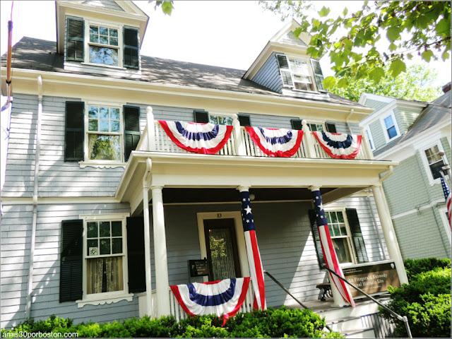 Exterior Casa de Nacimiento de Jonh F. Kennedy en Brookline 2017