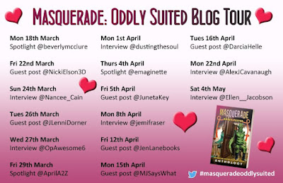 Masquerade: Oddly Suited #BookTour of the #IWSG anthology Angela Brown #GuestPost