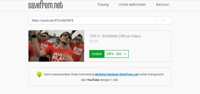 savefrom net cara simpel download video youtube