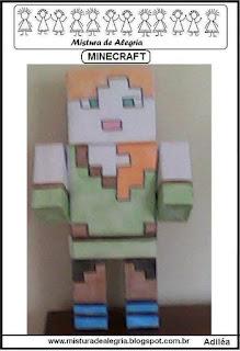 Minecraft feito com caixas leite