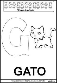 Alfabeto cartaz letra G