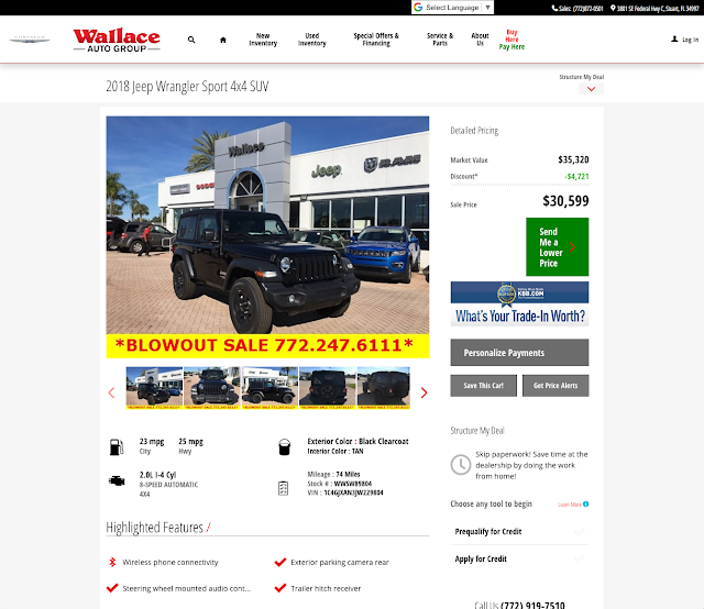 Vehicle Details Page (VDP)