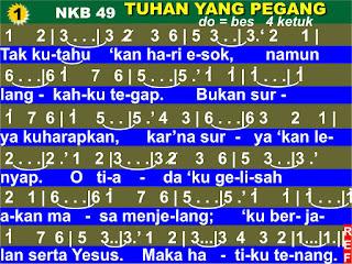 Kord Lagu NKB 49 Tuhan Yang Pegang