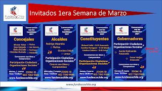 Calendario con los Candidatos asistentes a los Conversatorios