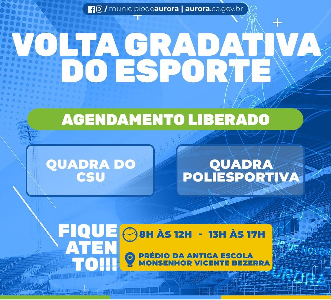 Aurora libera agendamento para utilização dos equipamentos esportivos do município