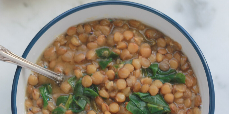 LENTIL SOUP WITH SPINACH AND LEMON