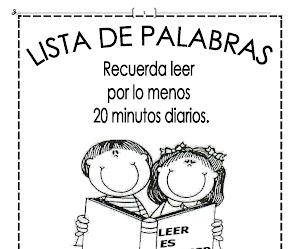 CUADERNILLO DE LECTURA DE PALABRAS