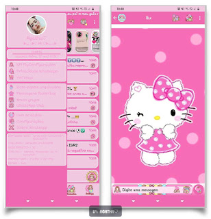 Hello Kitty Theme For YOWhatsApp & KM WhatsApp By Agatha