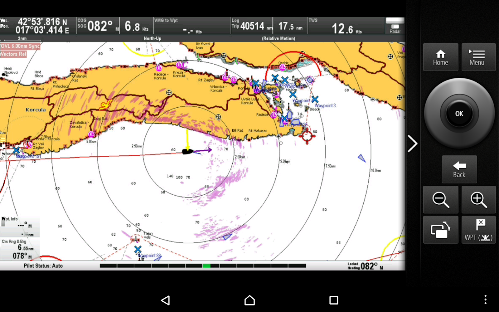 so on the screen shot below the purple stuff south of us is the rainstorm that had just passed us by the yellow arrow shows that the wind was coming from