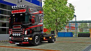 Vabis Black Lady skin for Scania RJL