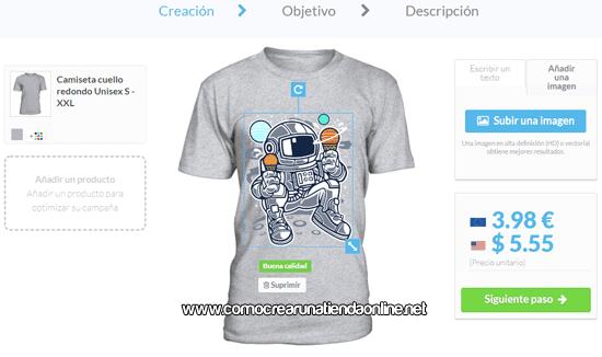 Creando camisetas en Teezily