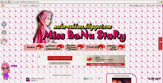 Design & Template Blog Miss BaNu StoRy 2012 - 2013