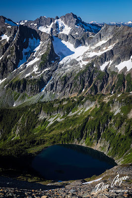 Doubtful Lake and Mt. Formidable from Sahale High Camp, North Cascades National Park, Washington, USA.