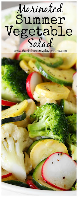 Marinated Summer Vegetable Salad Pin Image