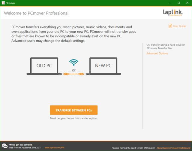Laplink Software PCmover 11.1.1010.449 + Crack - Chuyển file từ máy tính cũ sang máy tính mới