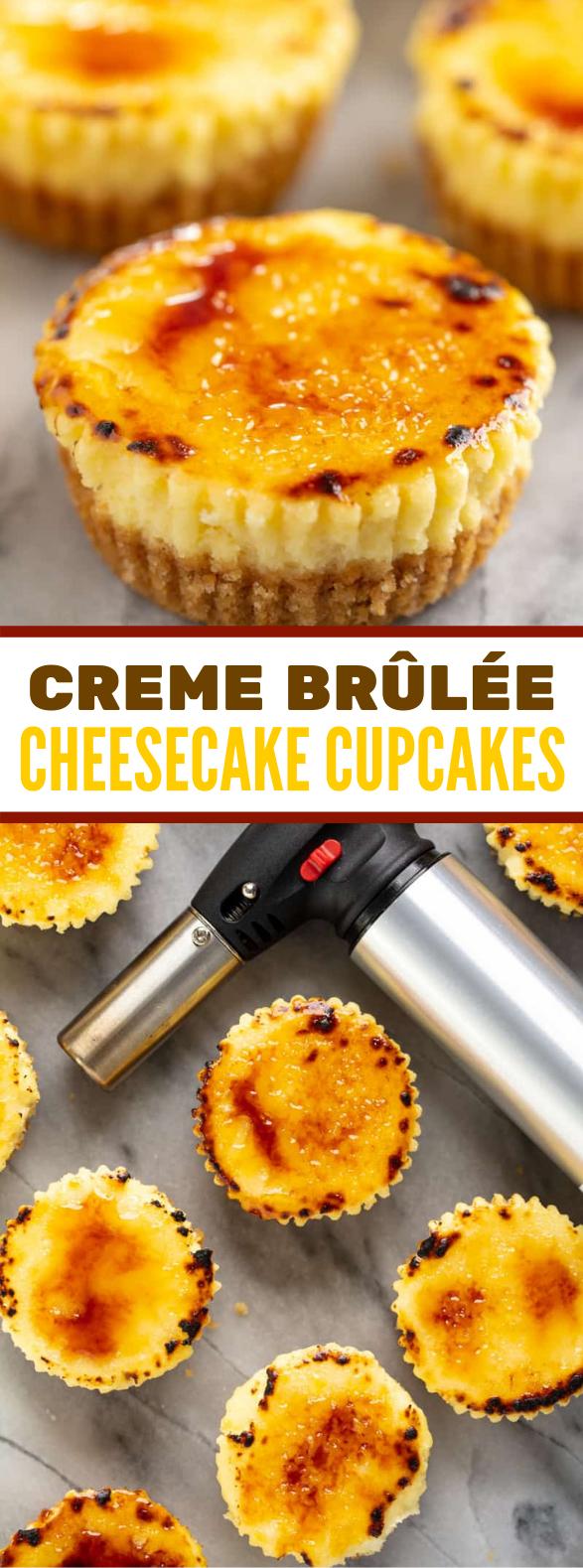 CREME BRÛLÉE CHEESECAKE CUPCAKES #desserts #cake
