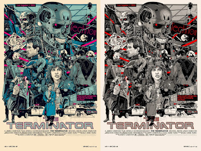 The Terminator Movie Poster Screen Print by Tyler Stout