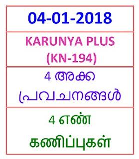 04-01-2018 4 NOS Predictions KARUNYA PLUS