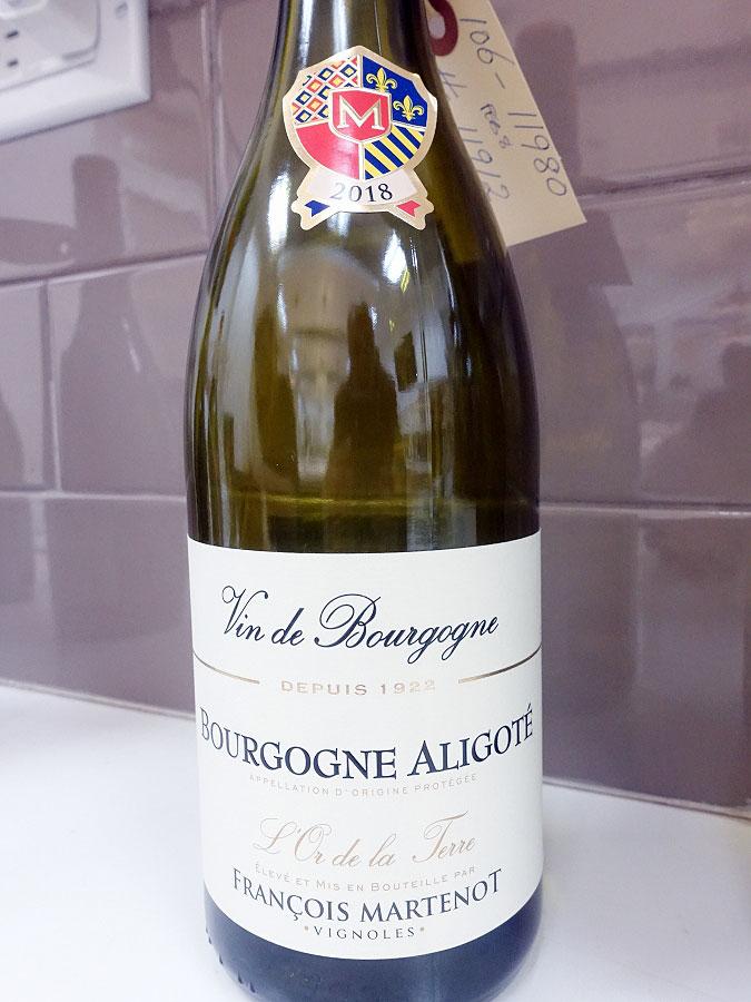 François Martenot L'Or de La Terre Bourgogne Aligoté 2018 (88 pts)