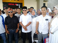 450 Warga Desa Suka Asih Iringi Jaro David Untuk Pendaftaran Balon Kades Desa Suka Asih