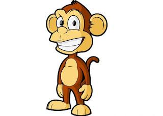 Gambar kartun hewan monyet