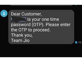 Enter OTP Number